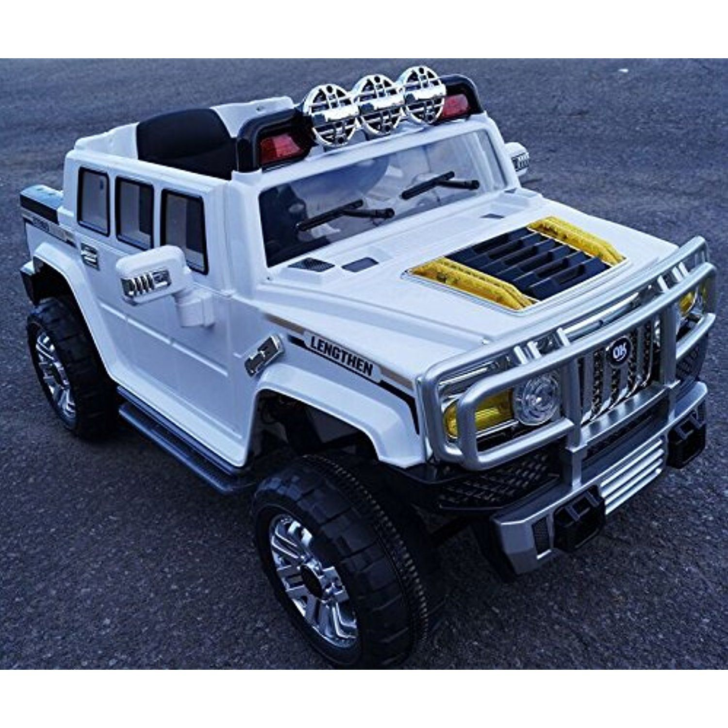Electric Battery Operated Ride On Car For Kids Hummer Style Model Hjj255 B Remote Control White Click Image For Mor Childrens Bike Power Wheels Tricycle
