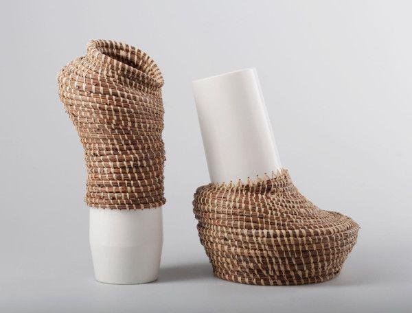 angolan basket weaving meets traditional ceramics design. Black Bedroom Furniture Sets. Home Design Ideas
