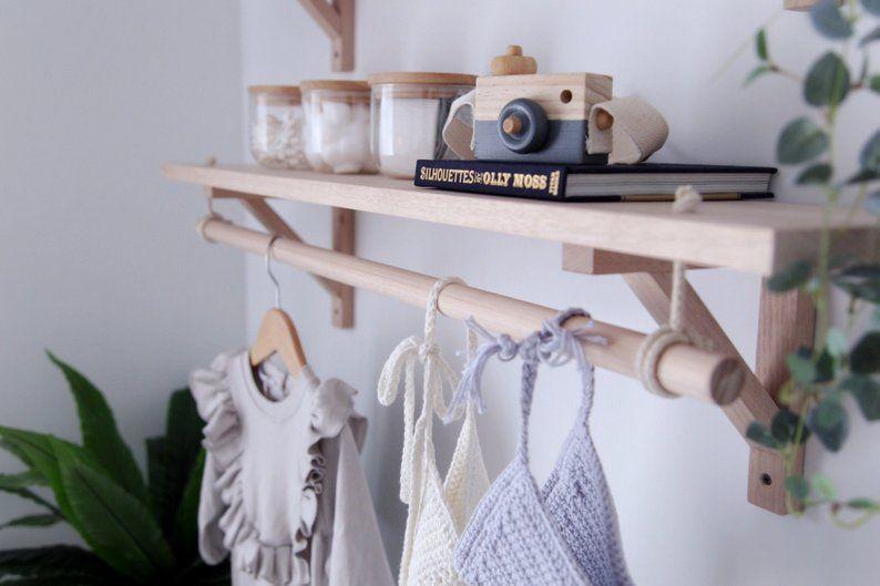 13++ Floating shelf with hanging rod ideas