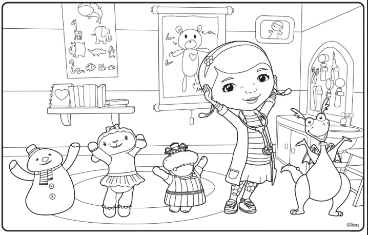 doc mcstuffins printables free printable doc mcstuffins colouring pages from disney junior - Disney Jr Coloring Pages