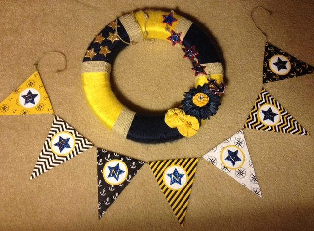 Us Navy Pir Boot Camp Graduation Wreath And Banner