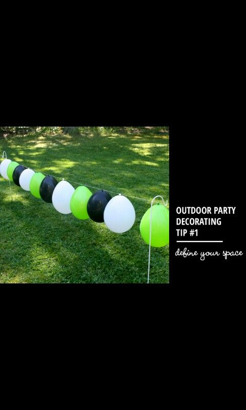 Outdoor soccer party