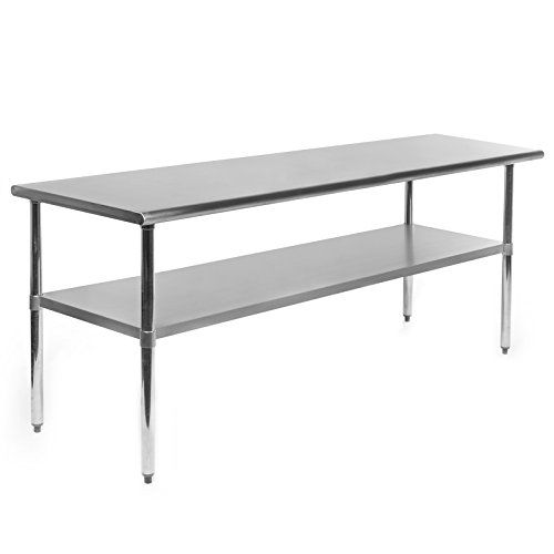 Stainless Steel 60 x 24 inch Heavy Duty NSF Certified  Work Bench Prep Table wit