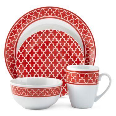 Dinnerware Set - JCPenney  sc 1 st  Pinterest & jcp home™ Ogee 16-pc. Dinnerware Set - JCPenney | Diseño work ...