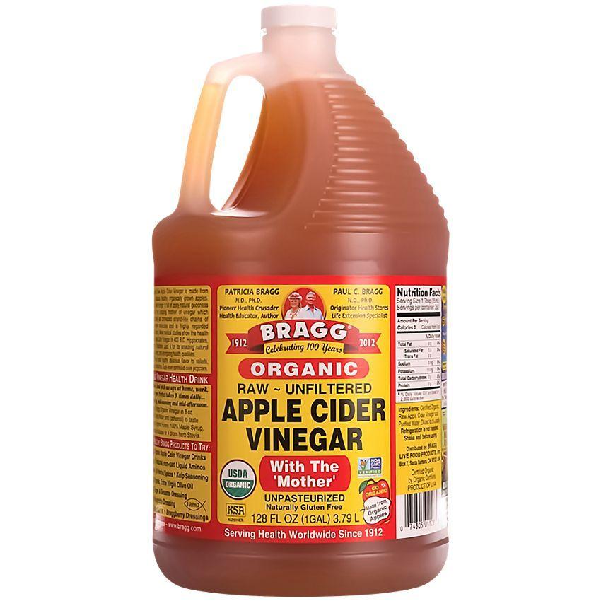 Apple cider vinegar 128 fluid ounces liquid by bragg at