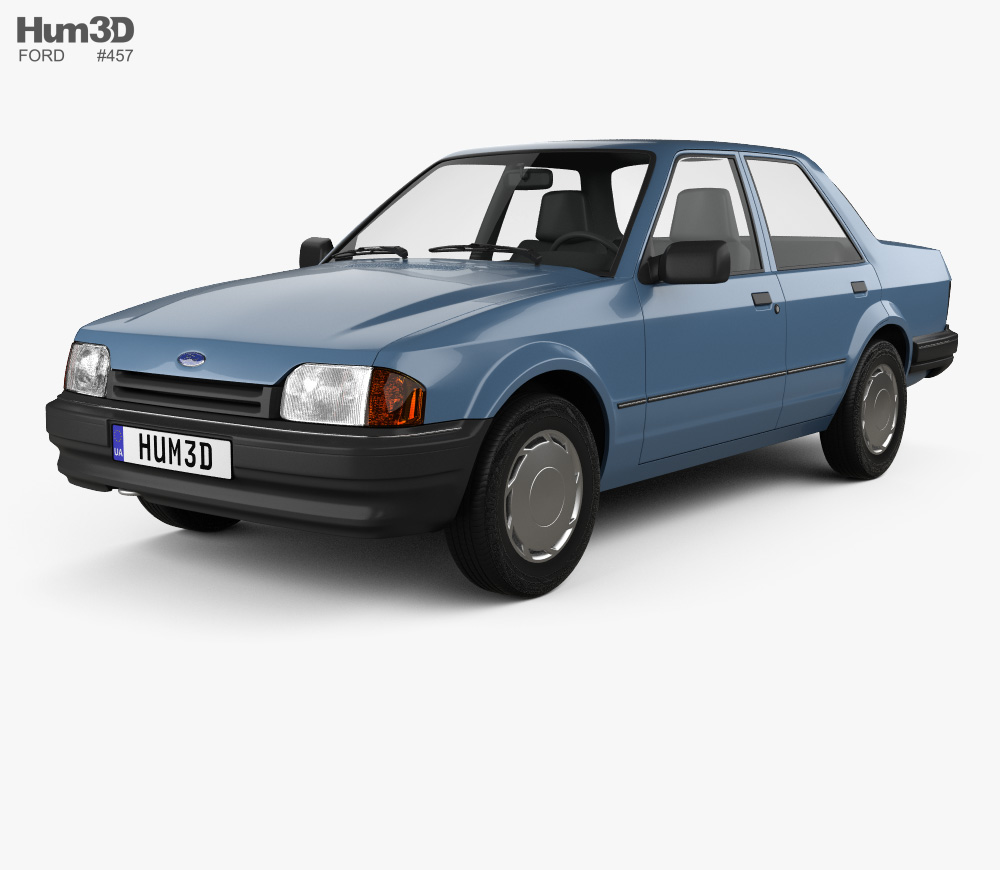 3d Model Of Ford Orion 1986 In 2020 Ford Orion Ford 3d Model