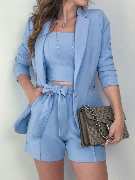 Blazer Rebeca Azul  5100f3216c0f