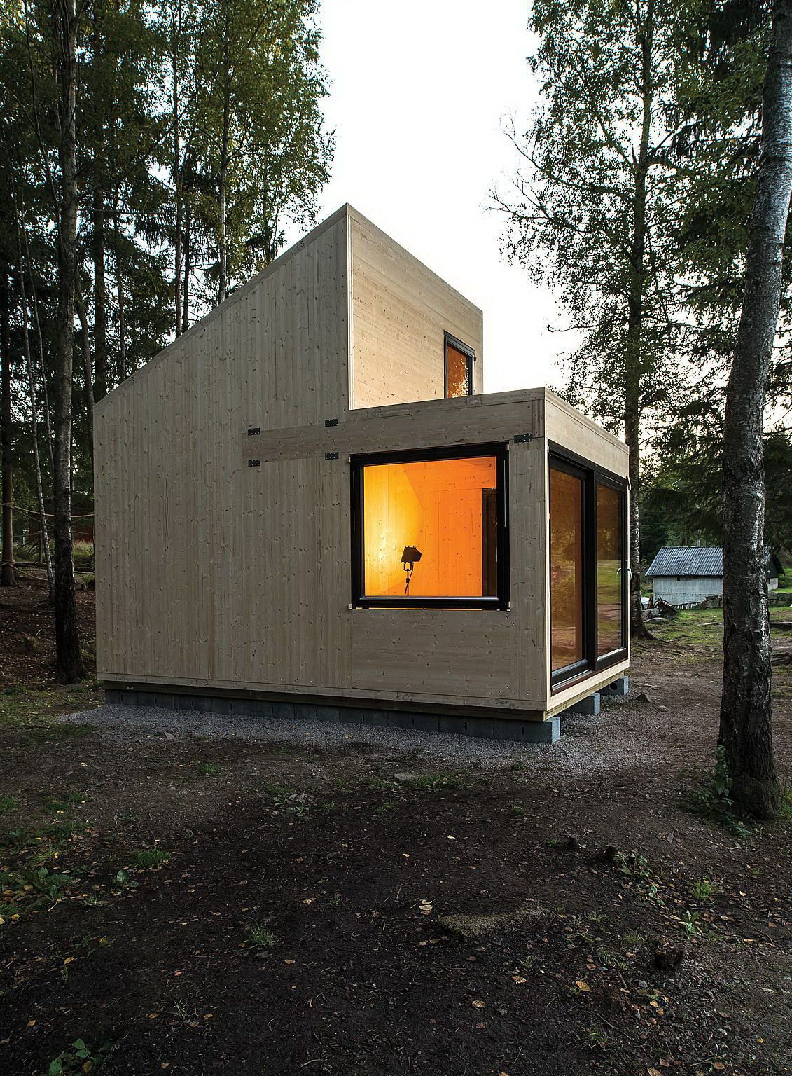Woody15 A Tiny Cabin By Marianne Borge садовые домики