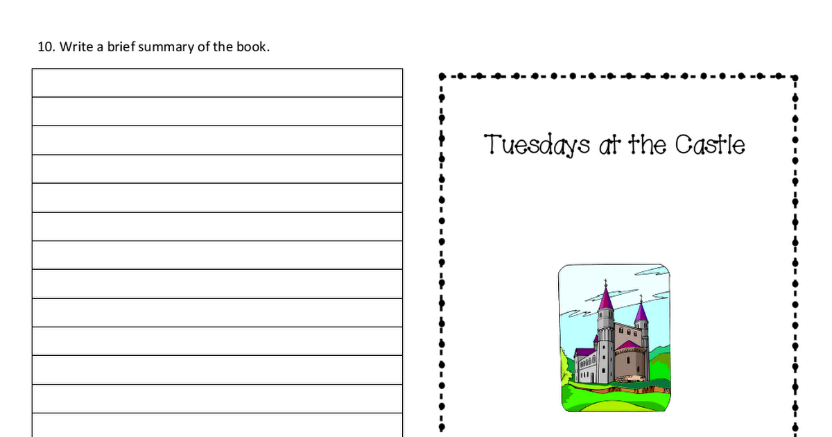 Tuesdays At The Castle Pdf Writing Books Chart
