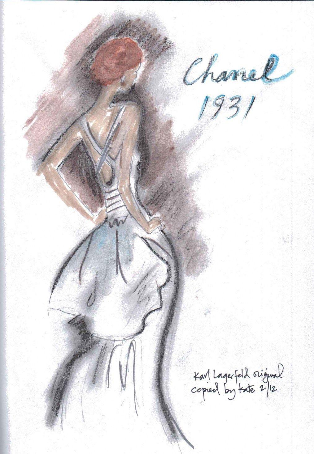 Chanel 1931 fashion sketch