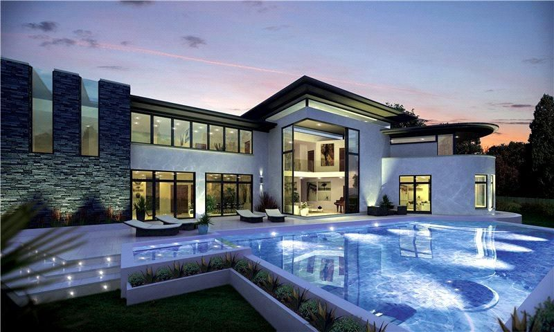Http Www Johndwood Co Uk Property For Sale 5 Bedroom House In Four Winds Park Kt13 Wey140255 Weybridge Futuristic Home Modern Mansion