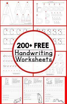 200 free handwriting worksheets                                                                                                                                                                                 More