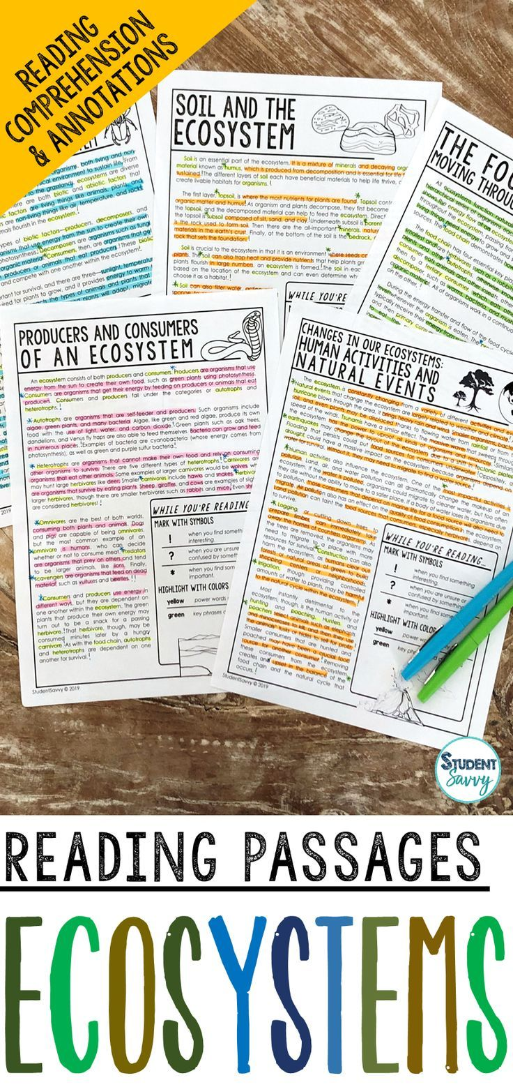 Ecosystems Worksheets Reading Comprehension Passages Questions And Annotations Thi Reading Passages Science Reading Passages Reading Comprehension Passages [ 1558 x 736 Pixel ]