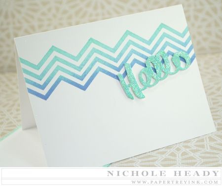 Sparkle Hello Notecard Set by Nichole Heady for Papertrey Ink (March 2015)