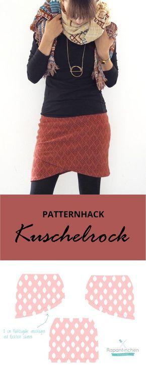 {genäht} – Patternhack Kuschelrock mit Nähanleitung