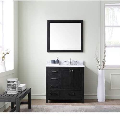 Raishon 36 Single Bathroom Vanity Set With Mirror Products Single Bathroom Vanity Vanity Vanity Set With Mirror
