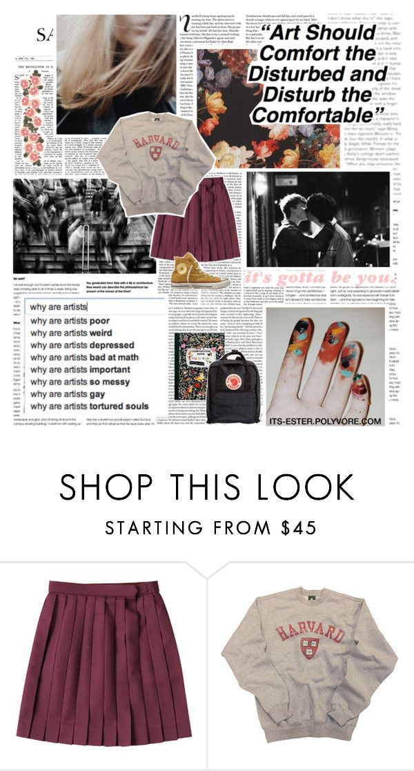 """""""☾ hold me closer, tiny dancer, count the headlights on the highway."""" by its-ester ❤ liked on Polyvore featuring Vanity Fair, Privé, Converse and Fjällräven"""