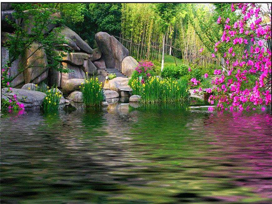 пейзаж весна картинки анимационные принимай меня поздравление