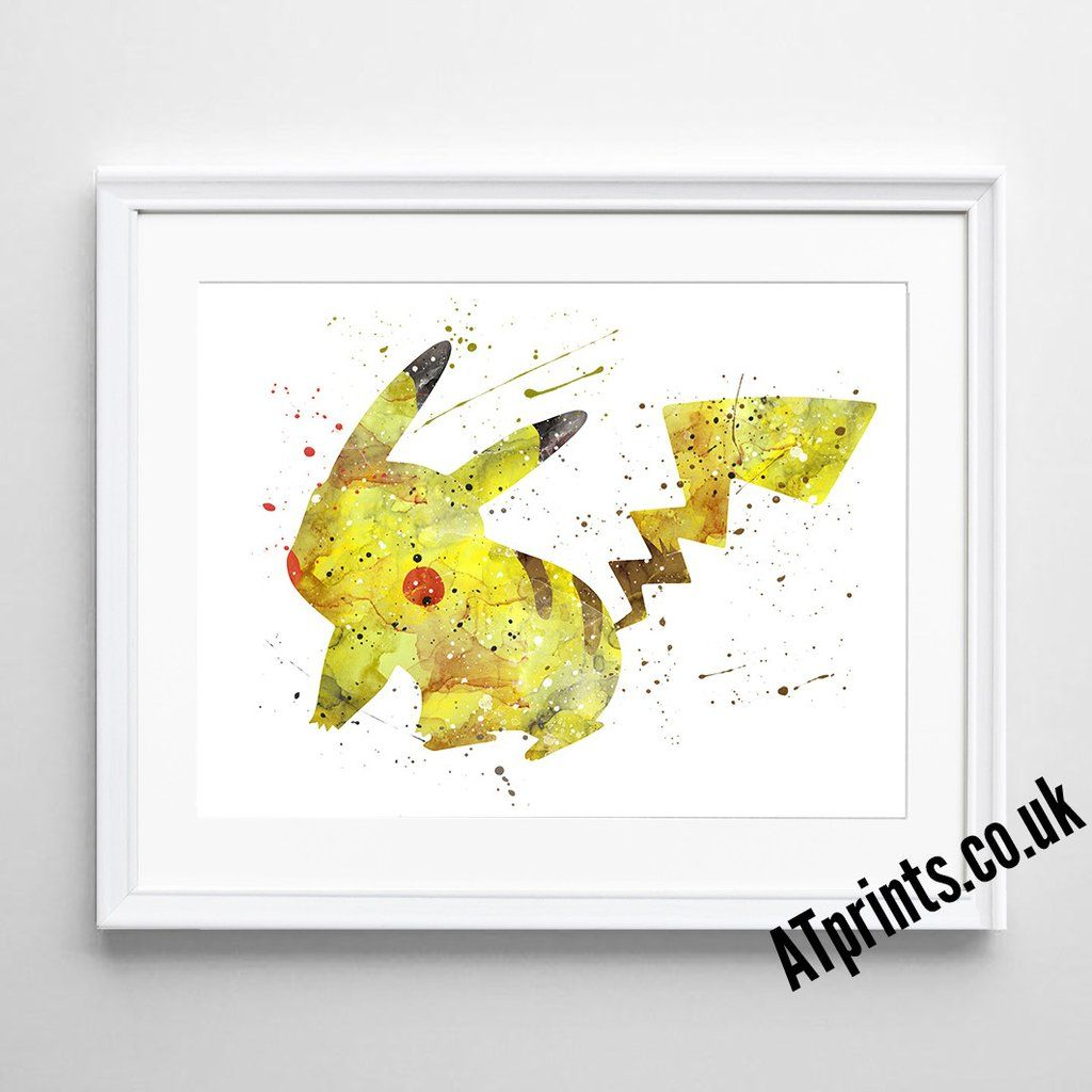 POKEMON Watercolour Art Print - Pikachu | Pinterest | Watercolour art