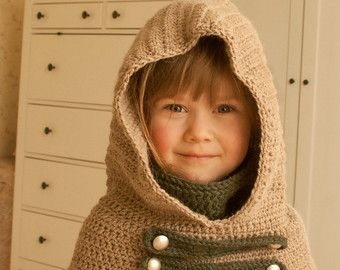 KNITTING PATTERN fox hood Roxy knitted flat baby toddler