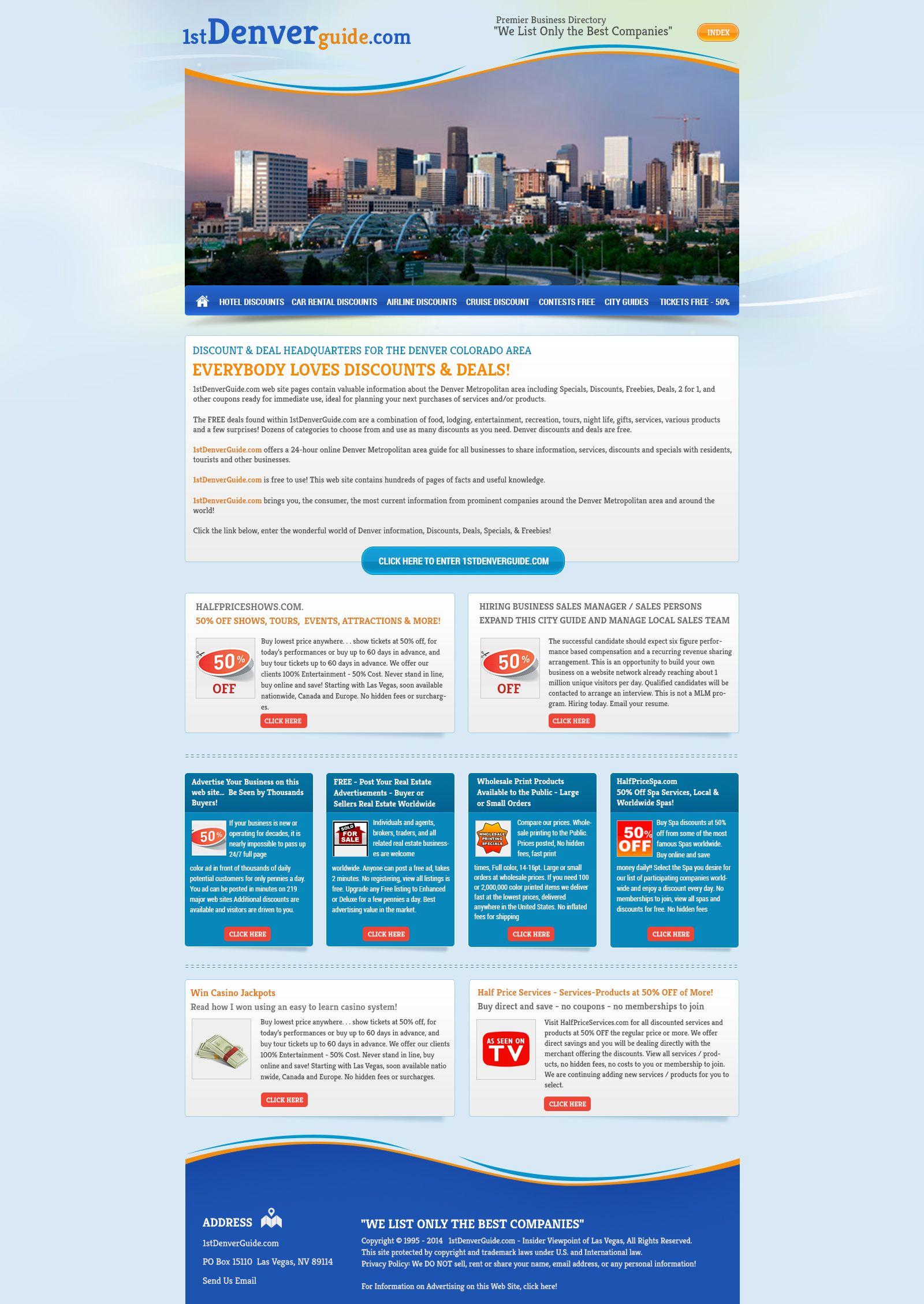 1st Denver Guide Website Design Services Affordable Website Design Good Company