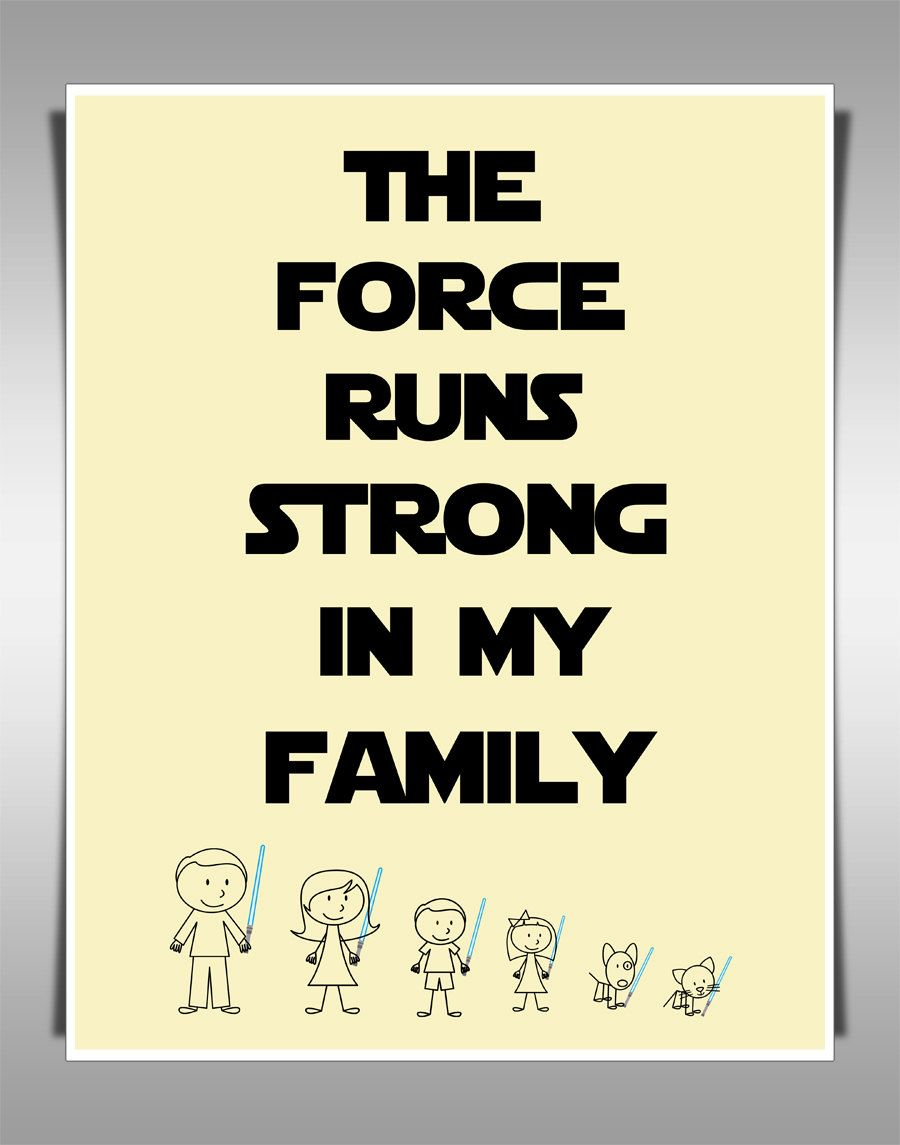 Star Wars Personalized Family Wall Art - Family Tree - Kid\'s Wall ...