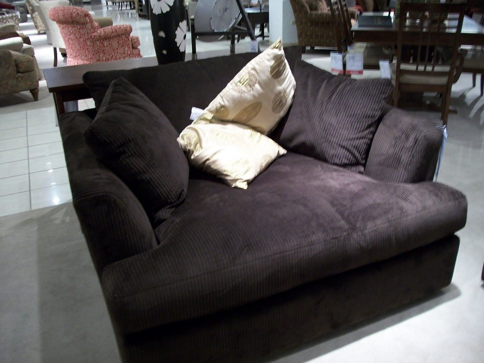 Big comfy oversized armchair where you can snuggle up with
