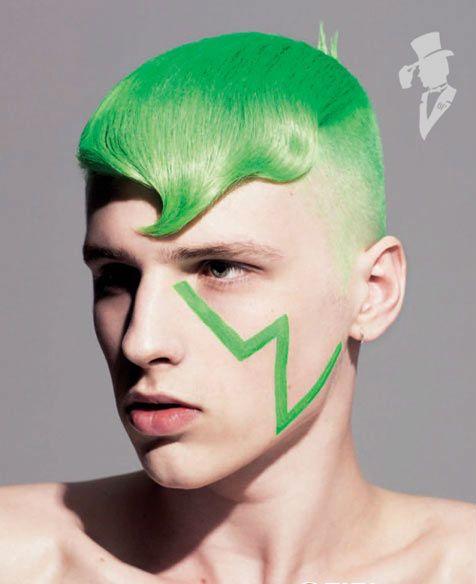 Зелёный цвет волос у мужчин