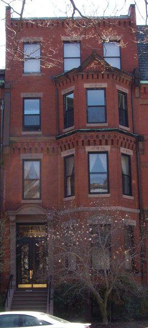 220 Commonwealth Ave., Boston MA. Beautiful brownstone building.