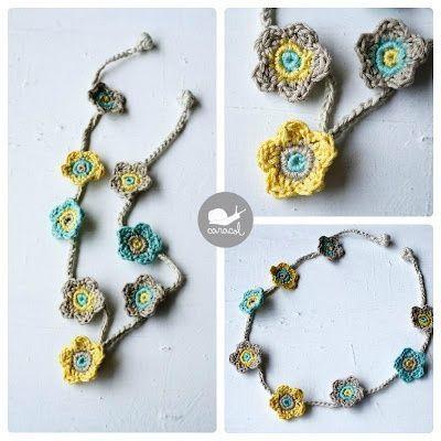 Crochet Necklace Tutorial Crochet Pinterest Crochet Necklace