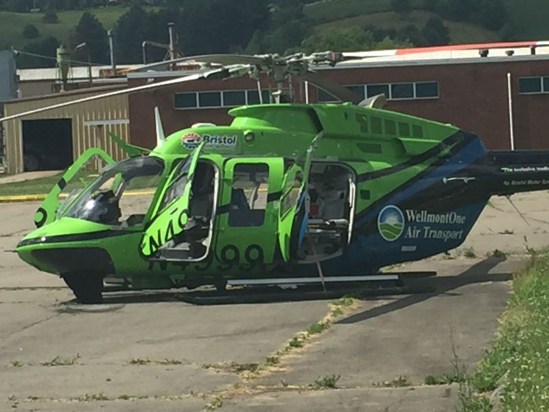 Wellmont helicopter crashes in Mountain City Mountain