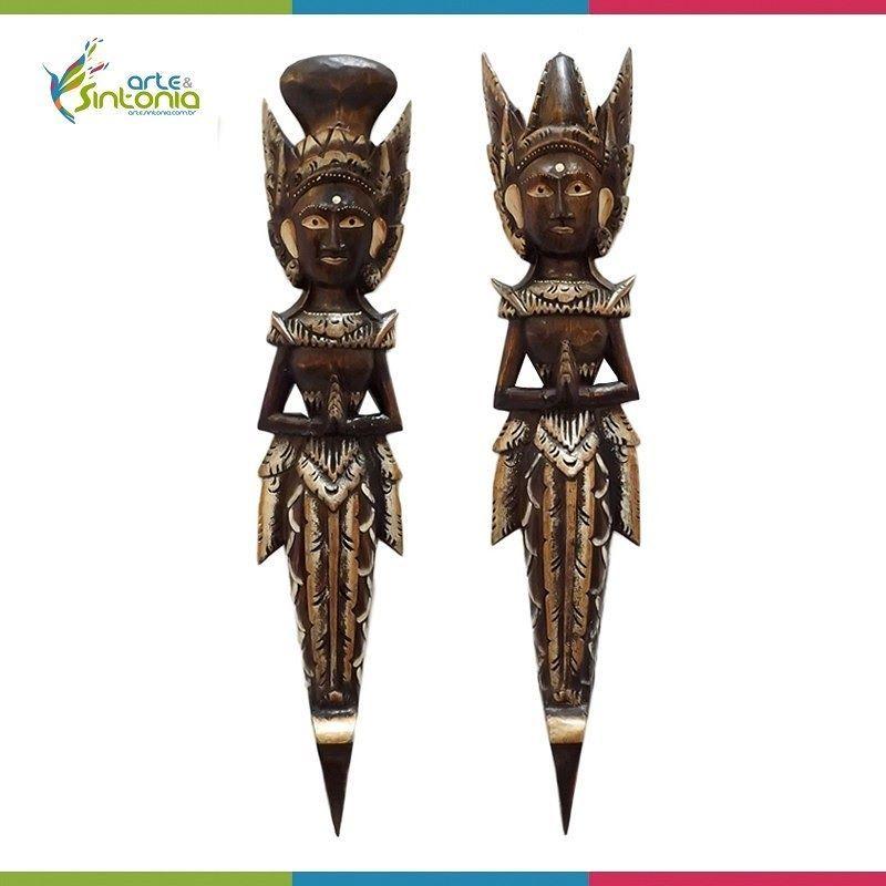 CASAL HINDU 60CM P/ DECORAR PAREDES - RAMA E SITA http://ift.tt/1roAiHo  Descrição; Escultura do Casal Rama e Sita (símbolos do amor eterno) para decoração artesanato feito por artistas da Ilha de Bali na Indonésia em madeira e pintura rústica.  O Casal Rama & Sita é considerado um dos avatares dos Deuses Vishnu e Lakshmi (Deusa da Sabedoria e Riqueza) respectivamente e simbolizam o amor eterno.  Tamanho das peças: Altura 60cm x Largura 13cm x Profundidade 06cm  Por apenas: R$ 14990 até 6x…