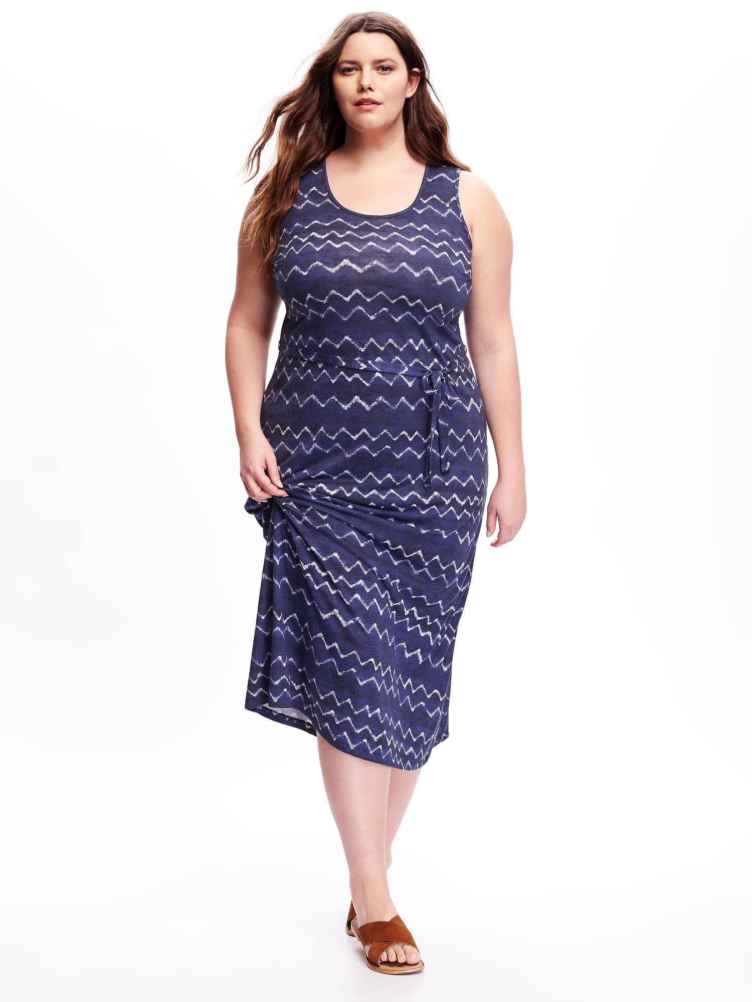 Tie-Belt Plus-Size Maxi Tank Dress | Sarah Slick (Old Navy ...