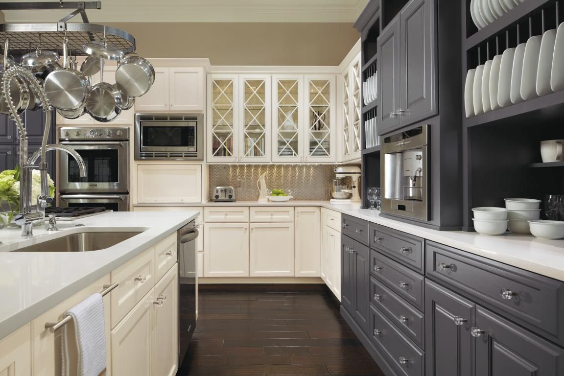 Customize Your Kitchen With Omega. This Gorgeous Kitchen Starts With A  Beautiful Custom Gray Paint
