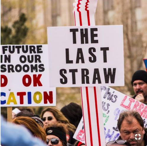 Oklahoma Education Association Protest Signs Teachers Strike Teacher Signs