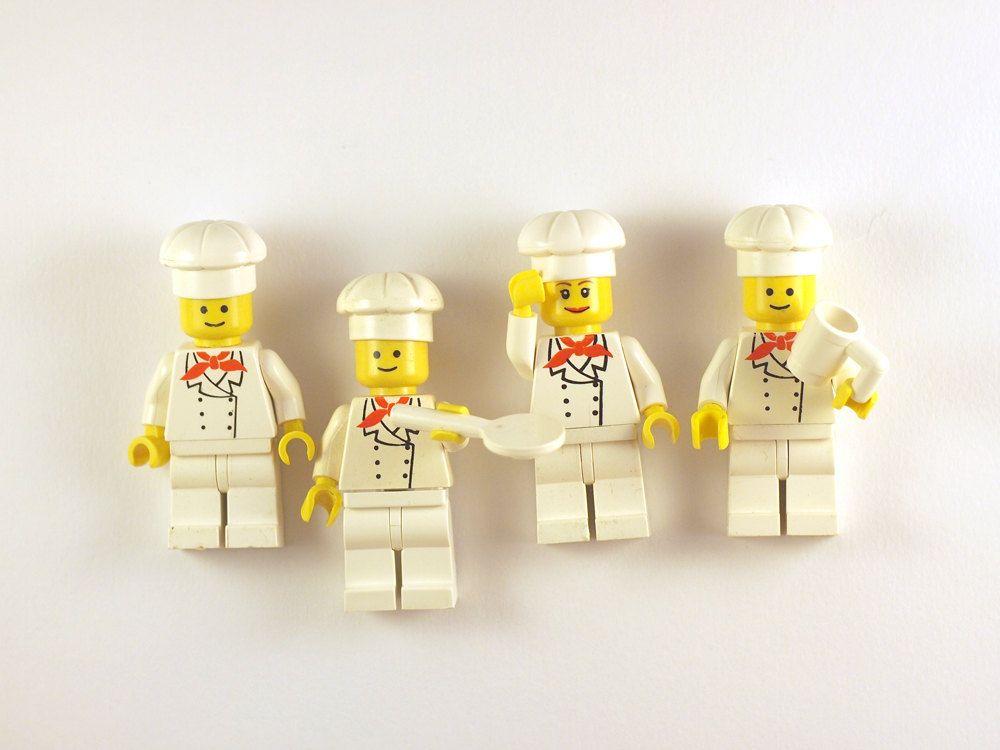 Lego Mini-Figure fridge magnets (Cook, Chef) | Lego | Pinterest | Lego