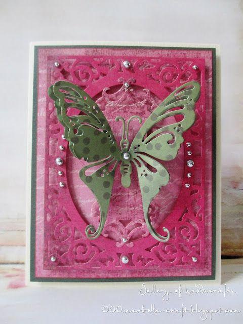 Gallery of handicrafts: Green butterfly