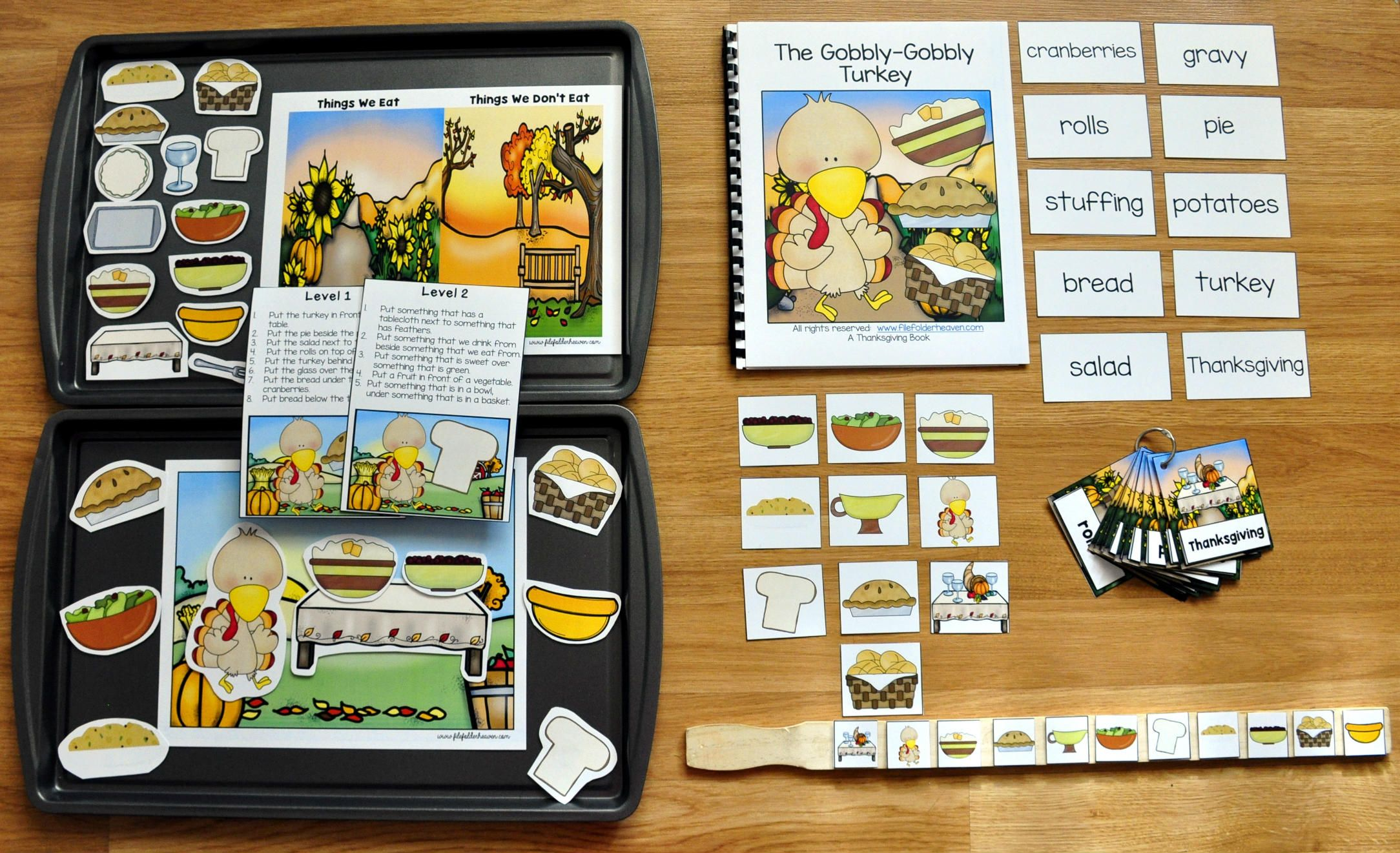 The Gobbly Gobbly Turkey Adapted Books Unit