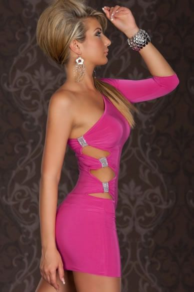 Sexy rosa Club Kleid