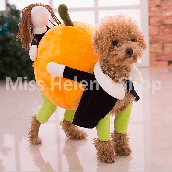 Neue Lustige Hund Kostüme Halloween Roman Kürbis Pet Mantel Fleece ...