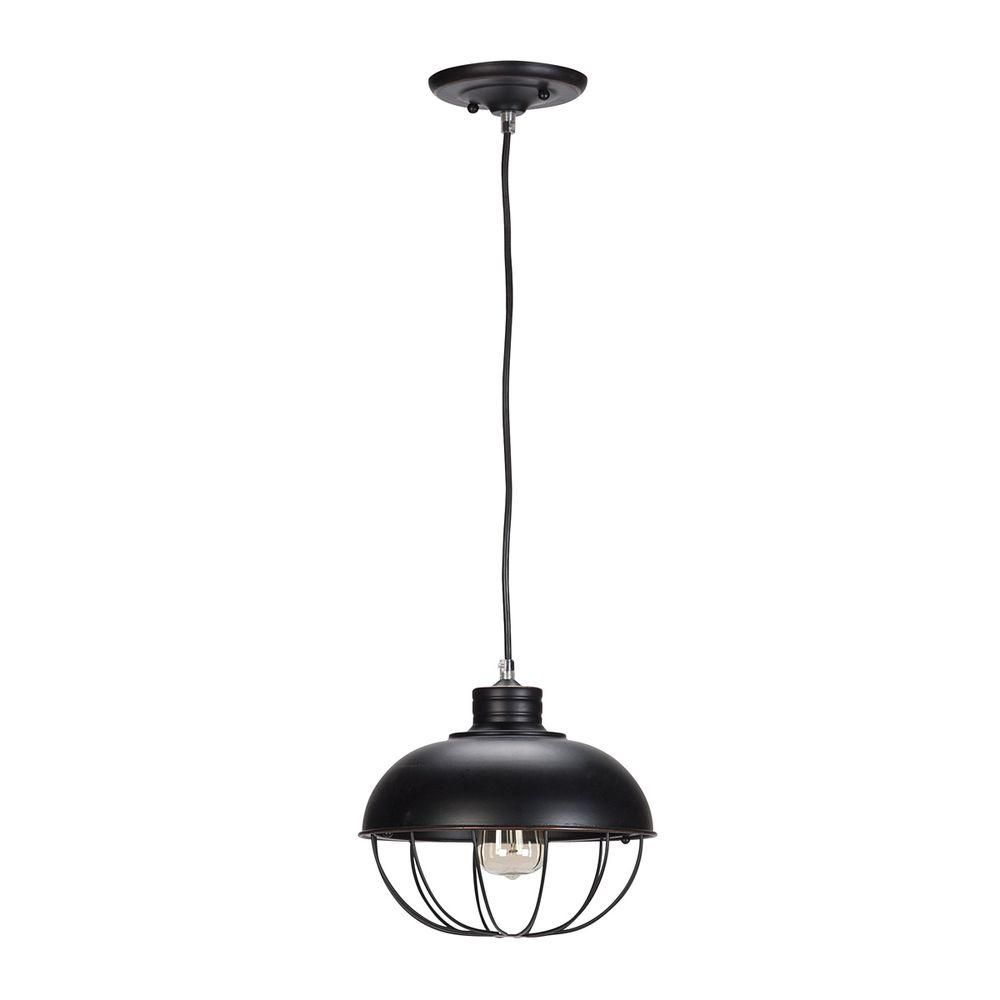 Globe Electric 1-Light Oil Rubbed Bronze Vintage Hanging Half-Moon Caged Pendant with  sc 1 st  Pinterest & Globe Electric 1-Light Oil-Rubbed Bronze Vintage Hanging Half-Moon ... azcodes.com