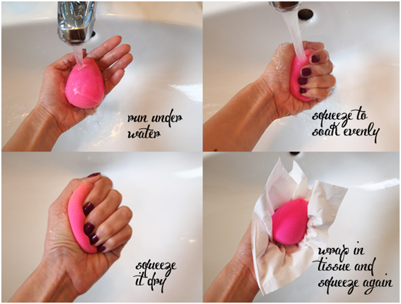 How To Use A Cosmetic Blending Sponge How To Use Makeup How To Clean Makeup Brushes Beauty Blender Sponge
