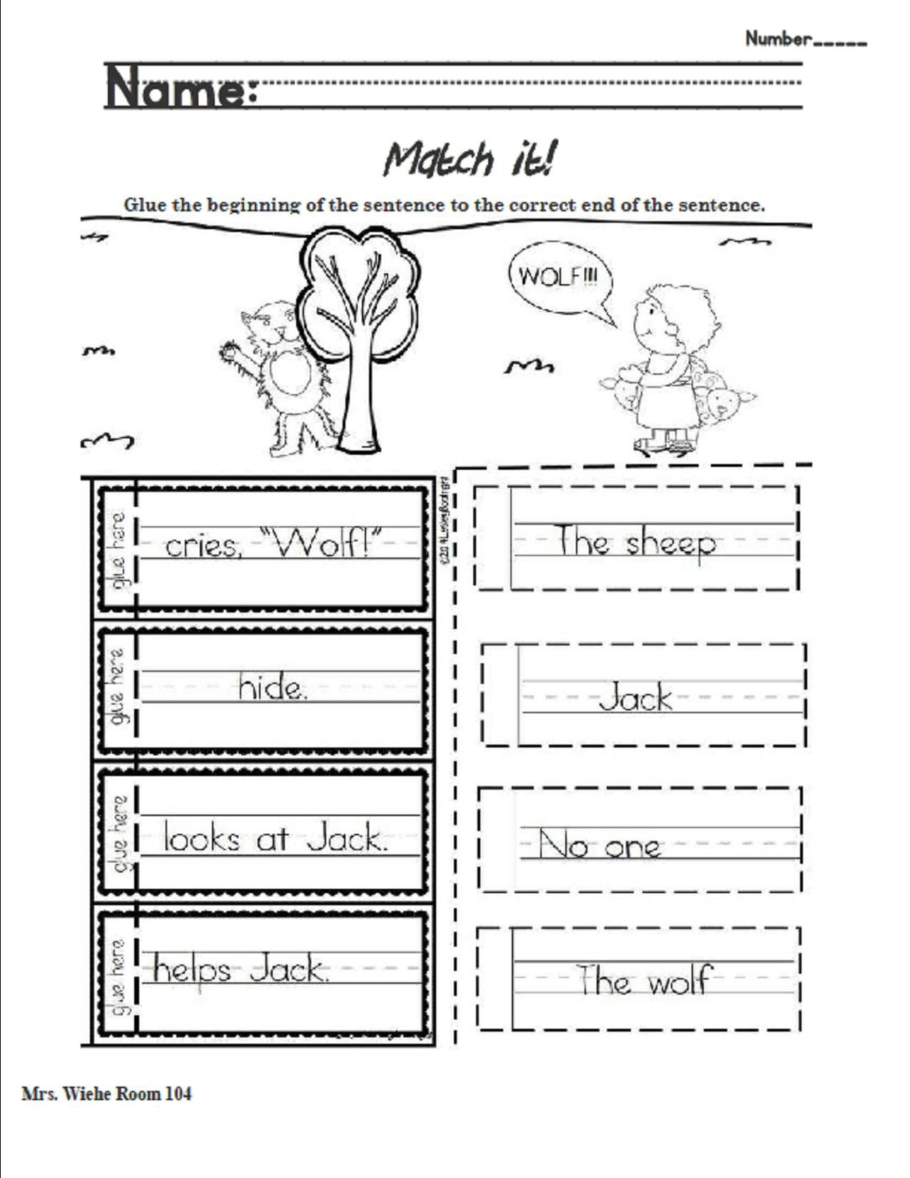 Lesson 6 Jack and the Wolf Match beginning and ending