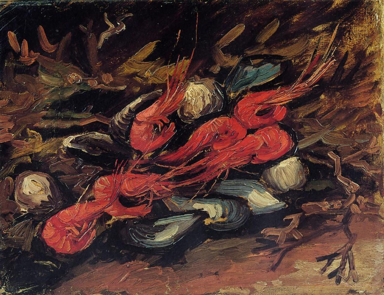 Still Life With Mussels And Shrimp Vincent Van Gogh 1886 Van Gogh Museum