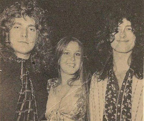 http://custard-pie.com/ Robert Plant, Jimmy Page with Lita Ford of the Runaways in L.A.