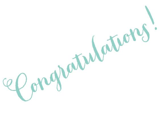Congratulations card calligraphy font by