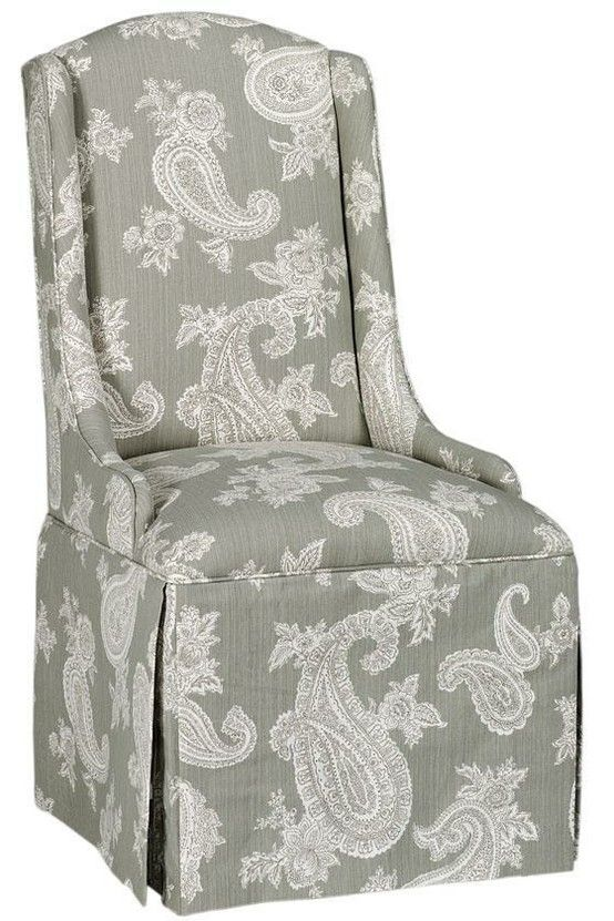 Skirted Parsons Chair I Like The Style Different Fabric Dining Room Ideas