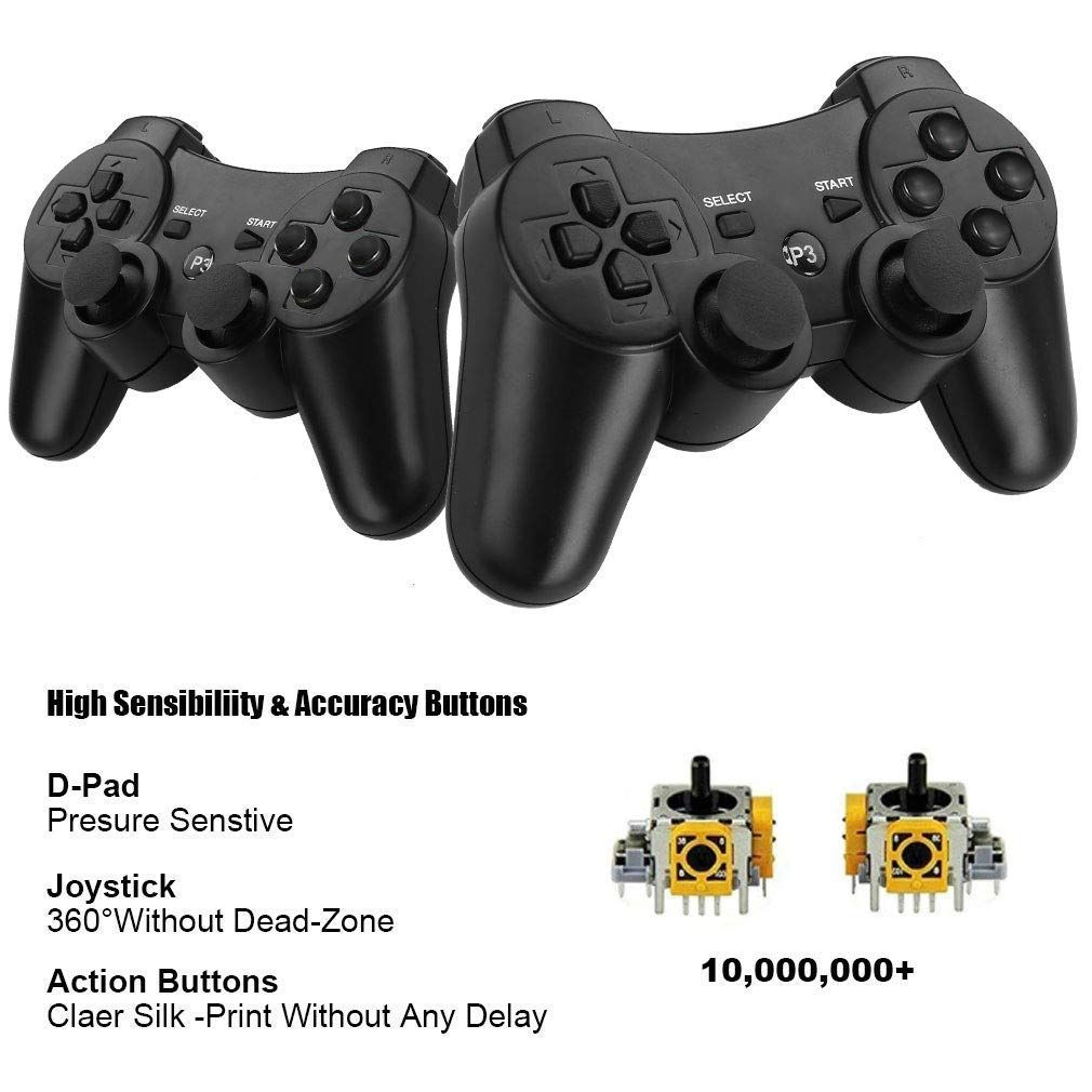 Gamefriend Ps3 Controller Wireless Double Shock Gamepad Bluetooth Sixaxis Game Controller With Charger Cable For Pl With Images Game Controller Ps3 Controller Playstation