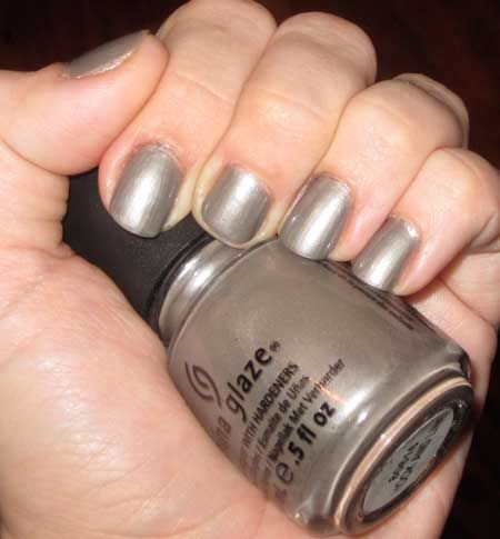 I'm obsessed with this shade! It's the Hook and Line lacquer from China Glaze's Capitol Colours collection