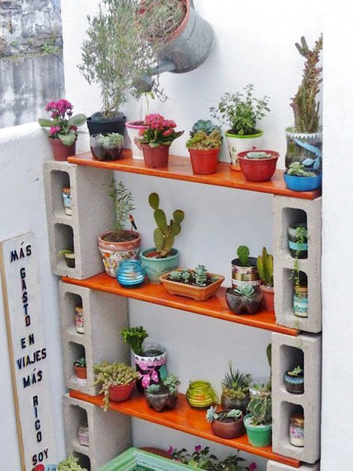 40 Favourite Indoor Garden For Apartment Design Ideas And Remodel Home Garden Cinder Block Shelves Diy Plant Stand Diy Terra Cotta Pots